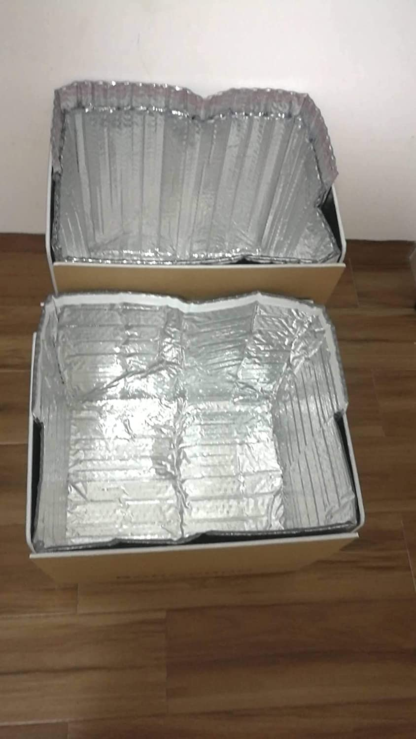 Thermal Box Liners 6x6x6 Metalized Box Liners.Pack of 5 Insulated Box Liners. Food Grade. Gusseted Bottom. Adhesive Strip. Mailing, Shipping, Packing, Packaging, Moving.