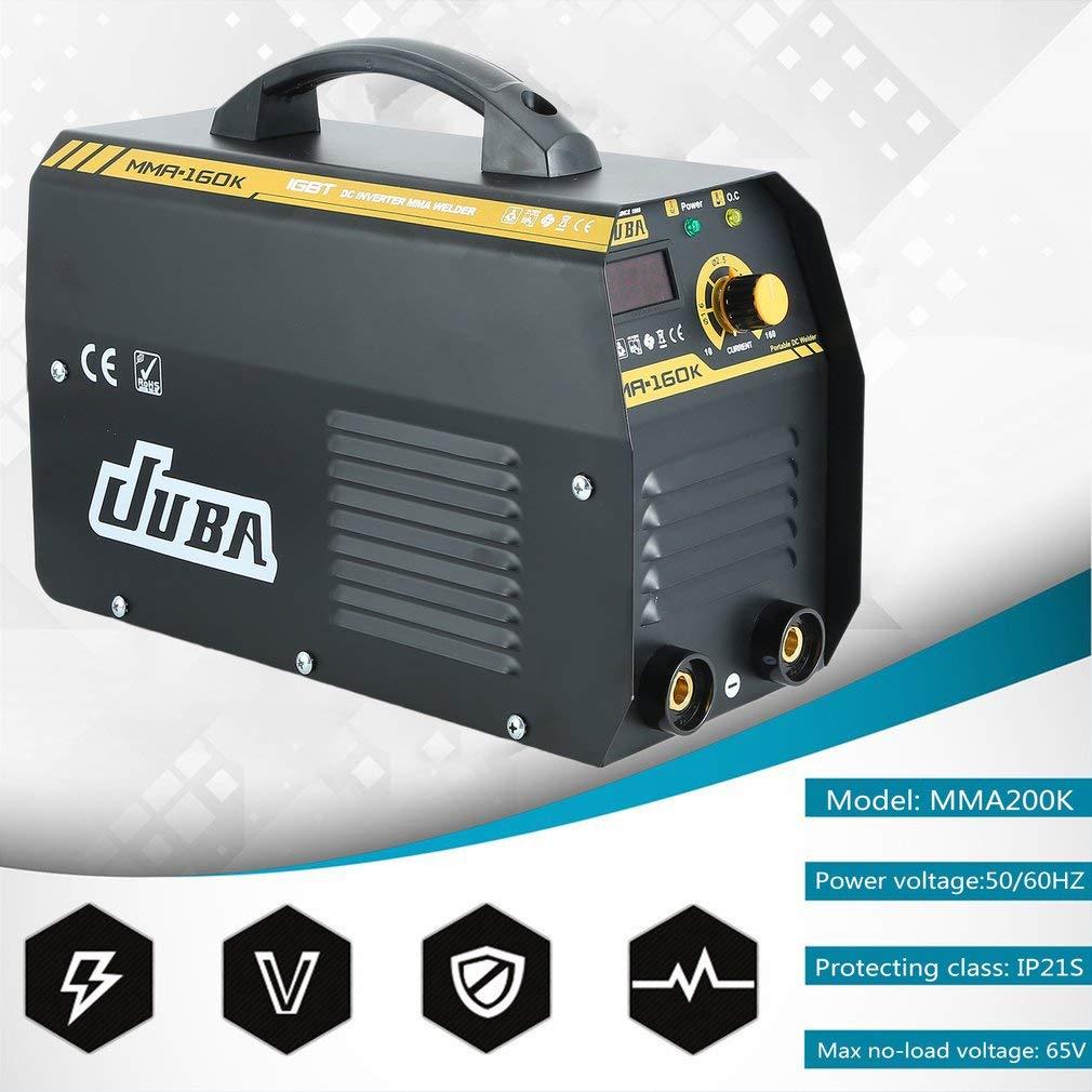 KinshopS Inverter JUBA MMA-160 - Soldador de electrodos IGBT: Amazon.es: Bricolaje y herramientas