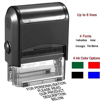 f/ür zigtausend Abdr/ücke Stempel Posta Modell L mit Ihrem Wunschtext f/ür bis zu 4 Zeilen Text