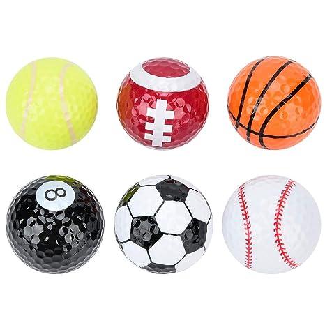 Mootea Pelota de Golf, 6 Piezas Baloncesto Fútbol Voleibol Patrón ...