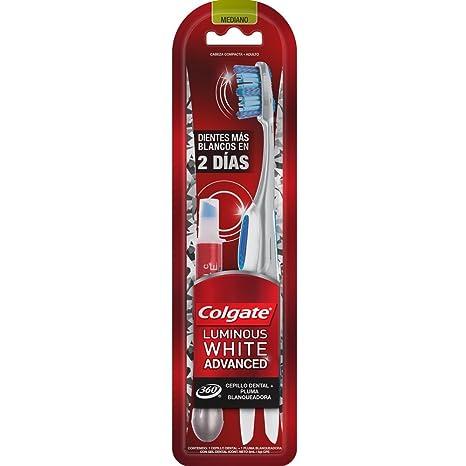 1 pieza de Cepillo Dental Colgate Luminous White Advanced + Pluma  Blanqueadora  Amazon.com.mx  Salud f5ed0ddd2fa1