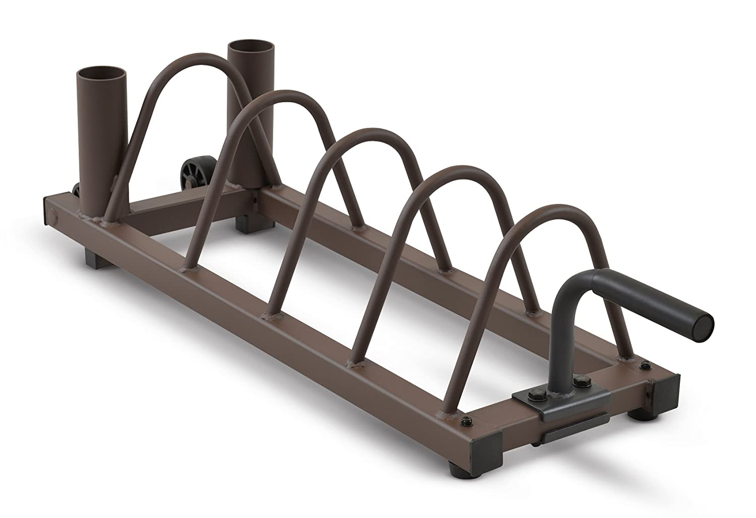 Steelbody Horizontal Plate and Olympic Bar Rack Organizer with Steel Frame and Transport Wheels STB-0130