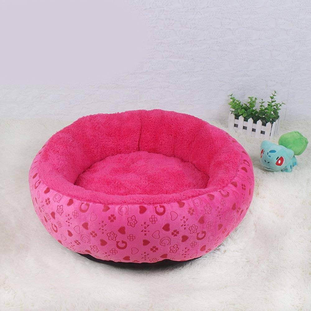 Jack's Us Small Shop Super Soft Round Breathable Kennel Warm Cat Litter Pet Mattress Easy to Clean (Color, Size : 545413cm)