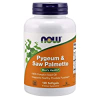 NOW Supplements, Pygeum & Saw Palmetto with Pumpkin Seed Oil, Men's Health*, 120...