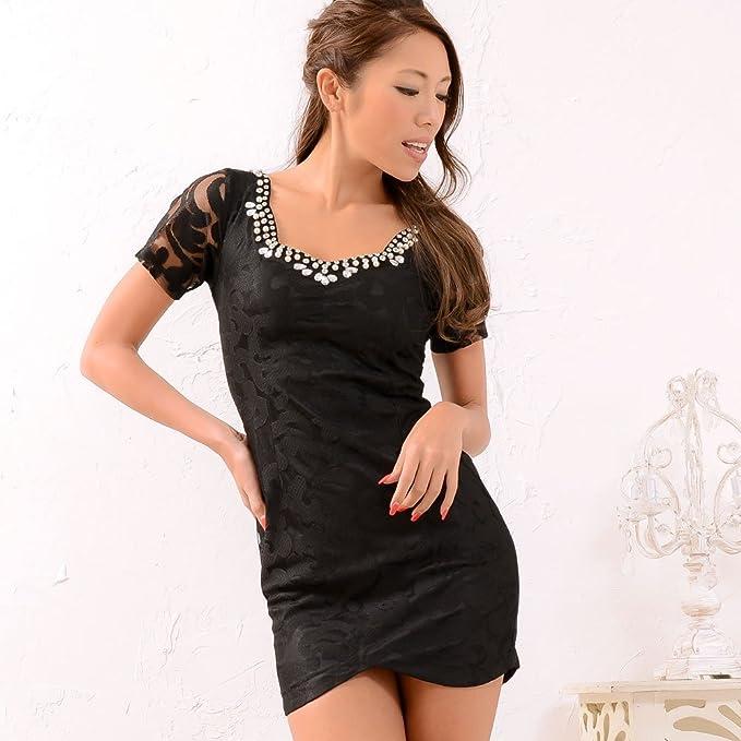 b391257947680 ドレス レディースワンピース あすつく 訳あり 袖透デザイン花柄レースミニドレス セール