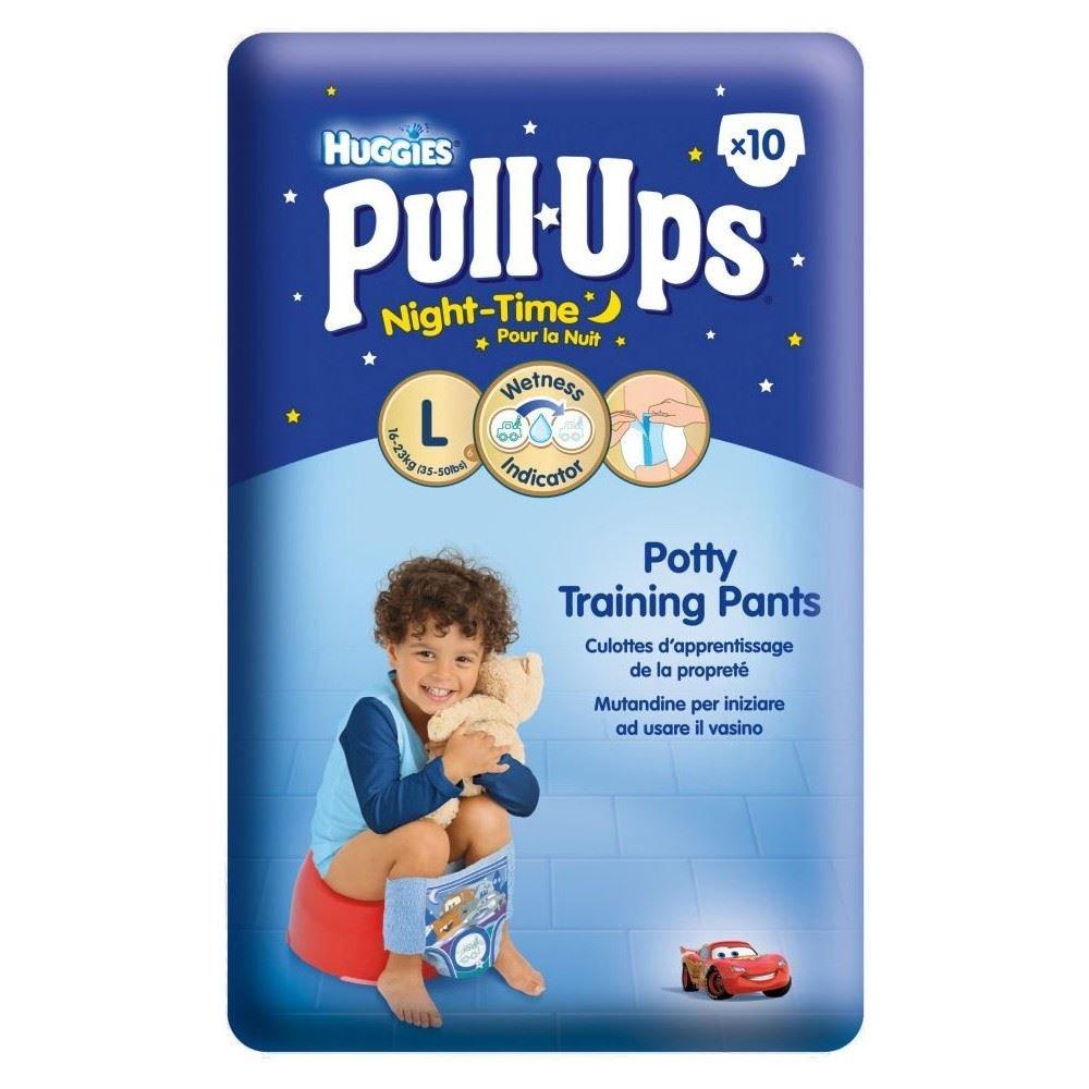 Huggies Pull Ups De Nuit Pantalon De Formation De Pot Pour Les Garçons Taille 6 Grandes 16-23Kg (10) Grocery
