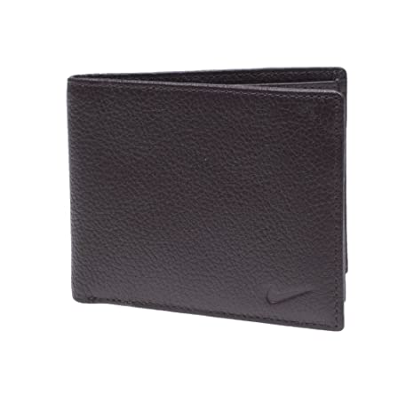 a4e531c739 Image Unavailable. Image not available for. Color: Nike Men's Passcase  Pebble Grain Leather Wallet Brown