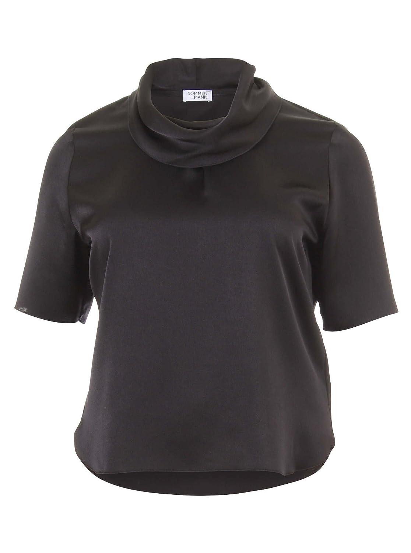 Blusenshirt Larissa in schwarz in Übergrößen (42, 44, 46, 48, 50, 52) von Sommermann