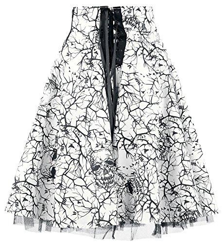 Vintage Vixxsin Aurora Jupe Imprim Haute Blanc Taille PRXAzRn1