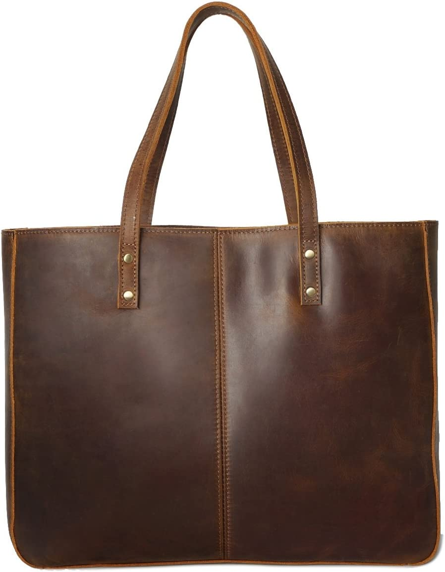 TongLing Womens Shoulder Bag Vintage Leather Casual Large-Capacity Leather Ladies Handbag Trend Color : Brass, Size : M