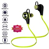 TURATA-Bluetooth Headphones Wireless Sport Earbuds Headset Earphones with Mic Noise Cancelling Sweatproof Running Hiking Stereo iWatch iPhone 7/7 Plus/6/6 Plus, iPad Air..-Lime Green
