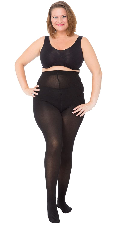 All Woman Plus Size Tights 60 Denier Opaque Microfibre SINGLE PAIR 043P1CBS2232
