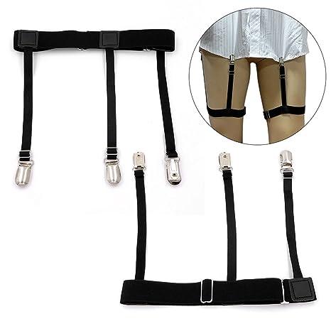 XCSOURCE 1 par de Hombres Ajustable de la Camisa se Mantiene Sujetadores Clip de cinturón de