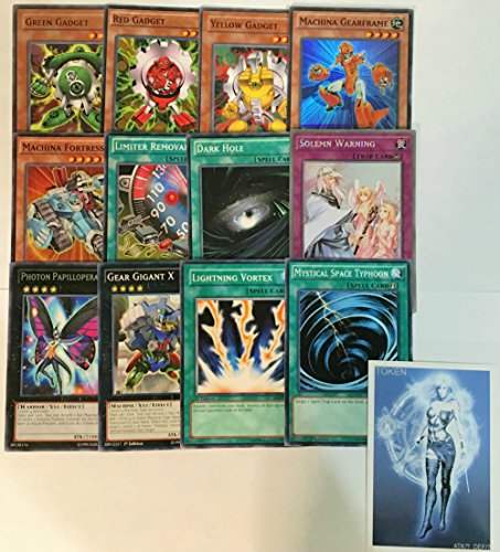 YUGIOH Tournament Ready Gadget with Complete Extra & Side Deck and exclusive Phantasm Gaming Token + a Deck Box & 100 Sleeves - Tournament Ready Gear Deck