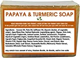 1 BAR - Natural Handmade Papaya Turmeric Skin Lightening Soap for Acne Scars, Age Spot, Liver Spot, 6 oz Bar