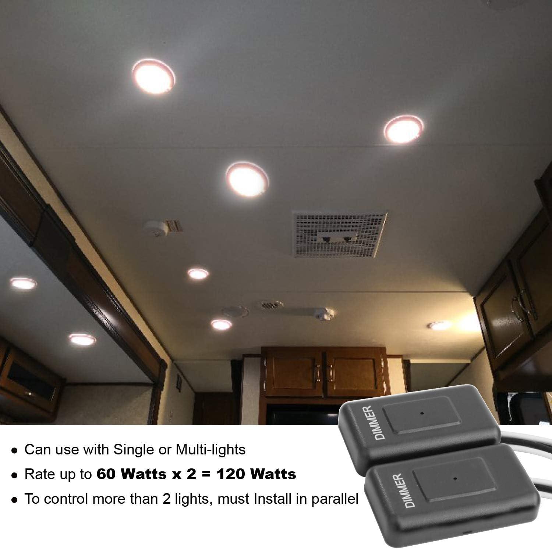 Facon Variateur Tactile contr/ôleur dinterrupteur Mural DC 12V avec Lampes /à LED Ampoules /à Incandescence et halog/ènes pour Camping-Car