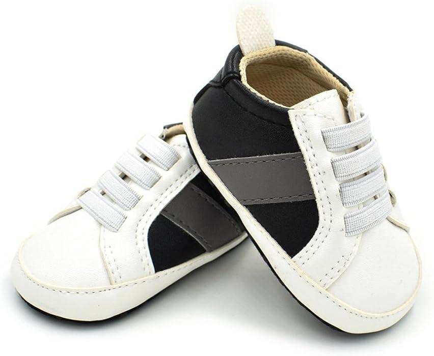 ZODOF Recién Nacidos Niños Bebés y niñas Zapatos Multicolores Zapatos Antideslizantes Zapatos de Cuna Calzado Deportivo Running Zapatos Ligero y ...