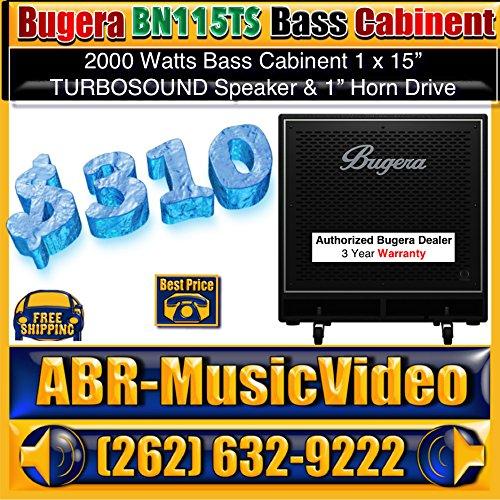 Price comparison product image BUGERA BN115TS High-Performance Lightweight 2, 000-Watt Bass Cabinet with 1 X 15'' Turbosound Speaker,  Black