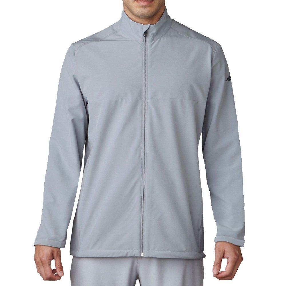 adidas Golf Men's Adi Club Stretch Wind Jacket, Mid Grey, XX-Large by adidas