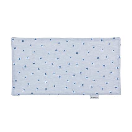 Cambrass Stela - Seca babas, 29.5 x 15.5 cm, color celeste / estrella