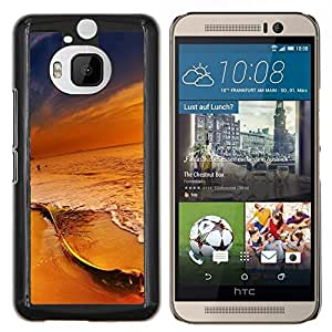 Qstar Arte & diseño plástico duro Fundas Cover Cubre Hard Case Cover para HTC One M9Plus M9+ M9 Plus (Colores en Sunset Beach)