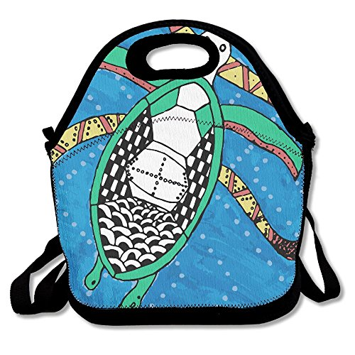 Cartoon Original Sea Turtle Portable Lunch Box Bag Insulated Waterproof Travel Storage Handbag For Women, Adults, - Cartoon With Sunglasses Shark