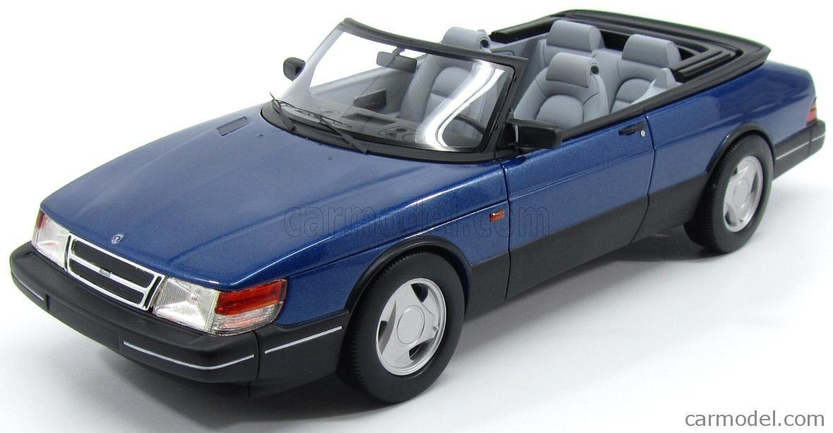 SAAB 900 CABRIOLET 1987 BLUE MET 1/18ミニカー