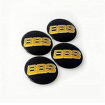 fanlinxin BBS embellecedores Negro/Llantas Centro Oro 4 Piezas Juego de 65 mm BBS Coche