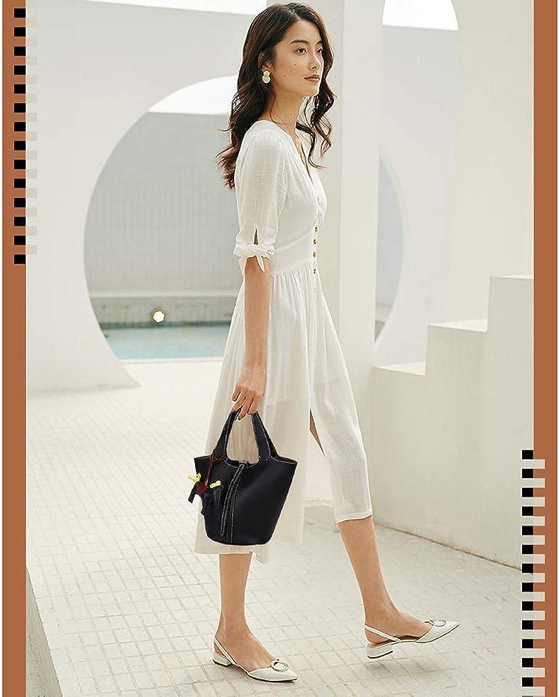 Ophlid Womens PU Leather Bucket Bags Handbag Fashion Shoulder Bag Top Handle Handbag