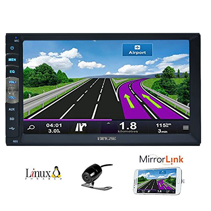 Amazon.com: 7 inch 2 Din Mirror Link for Android GPS Navigation Phones In Dash Car Stereo Radio HD 1024 600 Capacitive Muti-touch Screen Without DVD Player ...