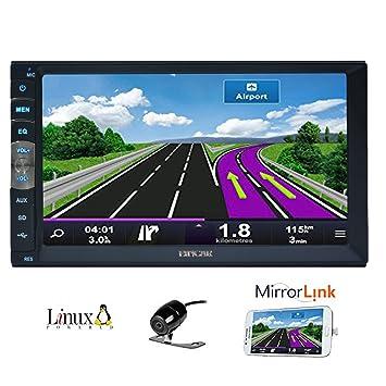 7 Pulgadas 2 DIN Espejo Enlace para los teléfonos Android de navegación GPS en el Tablero