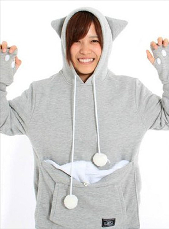 New Large pet Pocket Hoodie Women clothes Jacket Pullover Jumper Sweatshirt Hoody Winter Coats