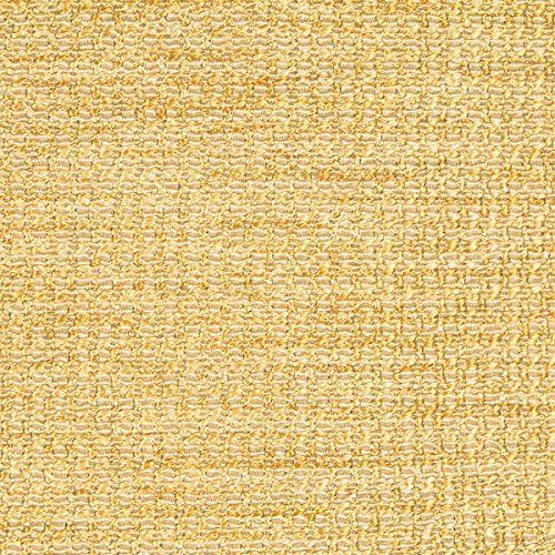 Crypton Waterproof Textured Basketweave Upholstery Fabric by The Yard Fortune Yellow Diamond