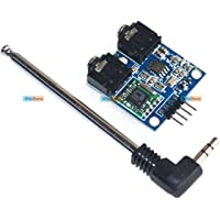 KitsGuru TEA5767 FM Stereo Radio Module 76-108MHZ with Cable Antenna