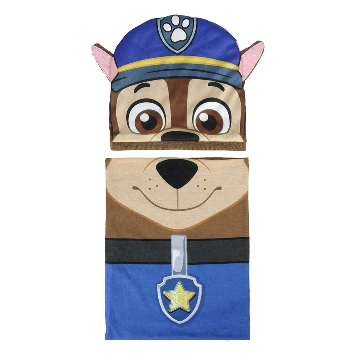 Cerdá Boy's Conjunto 2 Piezas Paw Patrol Chase Scarf, Hat & Glove Set, Blue (Azul 001), One (Size: única) One (Size: única) Cerdá 2200003287
