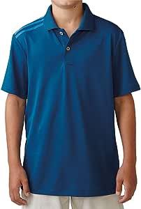 adidas 2016 Junior Climacool 3-Stripes Shoulder Kids Performance Golf Polo Shirt