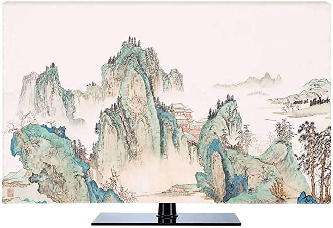 HBLZG Funda para Monitor poliéster a Prueba de Polvo antiestático LCD/LED/HD Panel Case Pantalla Funda Protectora TV Curva Compatible, TV de Escritorio y TV Colgante 22-80 pulgadas-48Pulgada-G: Amazon.es: Hogar