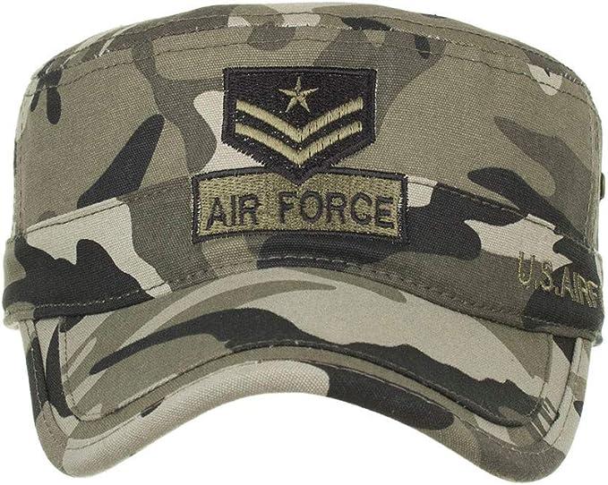 Longra💞 Mujer Algodón Lavado Gorras Militares Cadetes Femeninos ...