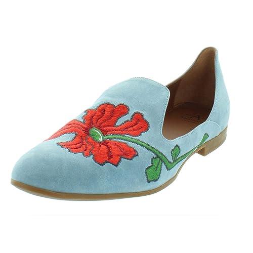 Aquatalia - Emmaline Mocasines de talón Cerrado, Color metálico Mujer, Azul (Chambray), 7 M EU: Amazon.es: Zapatos y complementos