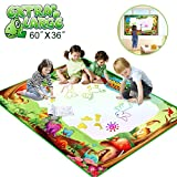 Water Drawing Mat, Betheaces Kids Toys Extra Large Aqua Magic Doodle Dinosaur Mats Mess Free Coloring Painting Pad 60'' X 36'' Writing Board in 7 Rainbow Colors with 3 Magic Pens for Boys Girls Toddlers