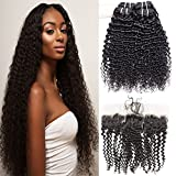 VIPbeauty Brazilian Hair with Frontal Closure Unprocessed Virgin Hair Bundle Deals Ear to Ear 13×4 Frontal with 8A 3 Bundles of Brazilian Hair 100% Human Hair Straight Hair (20 22 24 with 18)
