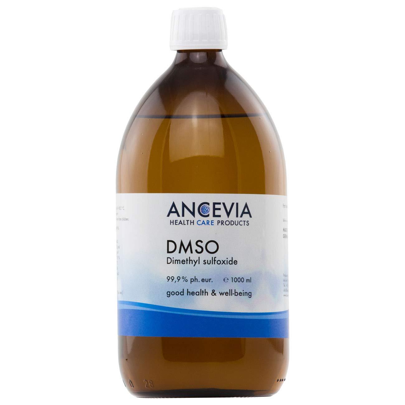 ANCEVIA® - DMSO 500/1000 ml - 99.9% Pureza Ph. Eur. - Dimetilsulfóxido – pureza farmacéutica - en botella de vidrio ámbar