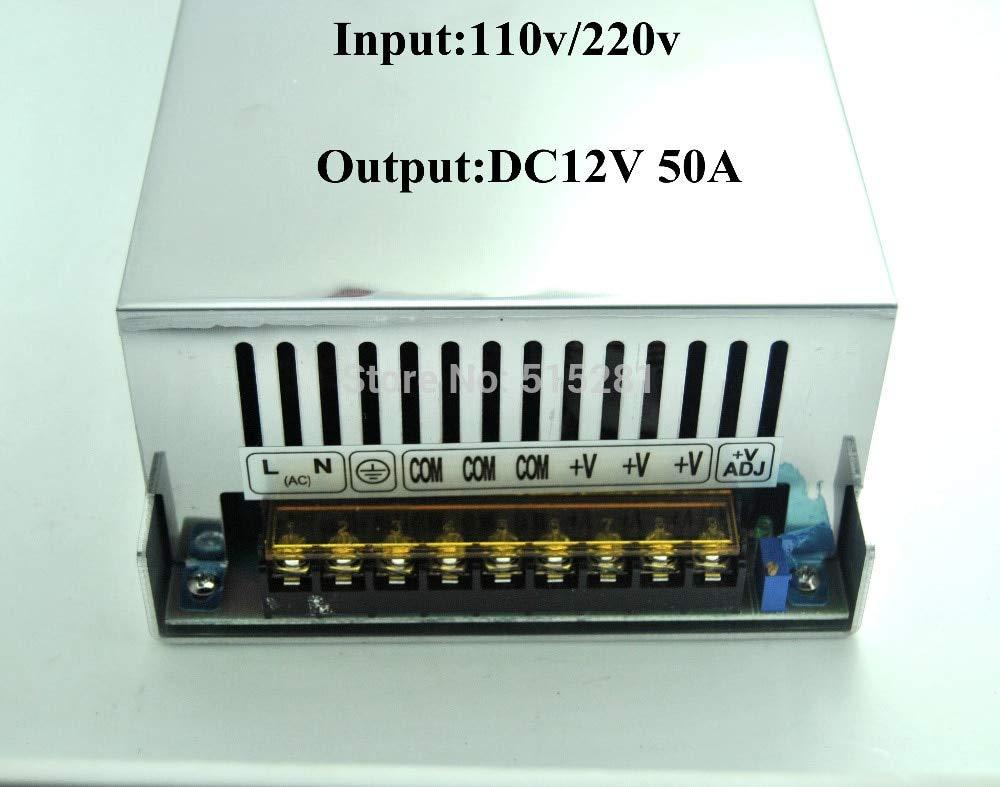 Fincos LED Switching Power Supply DC12V 50A 600W Transformer Input AC110//220V