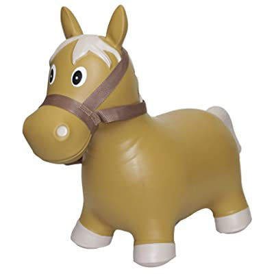 Big Country Toys Lil Bucker Horse - Kids Inflatable Bouncy Horse - Hopper Horse with Bridle & Reins - Horse Riding Toys - Farm Toys - Rodeo Toys: Toys & Games