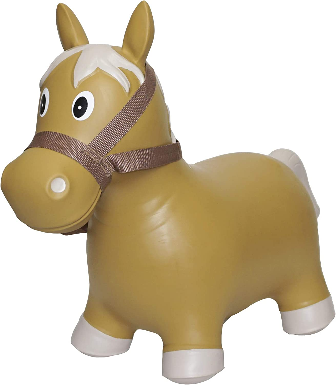 Big Country Toys Lil Bucker Horse - Kids Inflatable Bouncy Horse - Hopper Horse with Bridle & Reins - Horse Riding Toys - Farm Toys - Rodeo Toys
