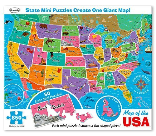 Re-marks Map of the USA 850 Piece Puzzle with Mini ()