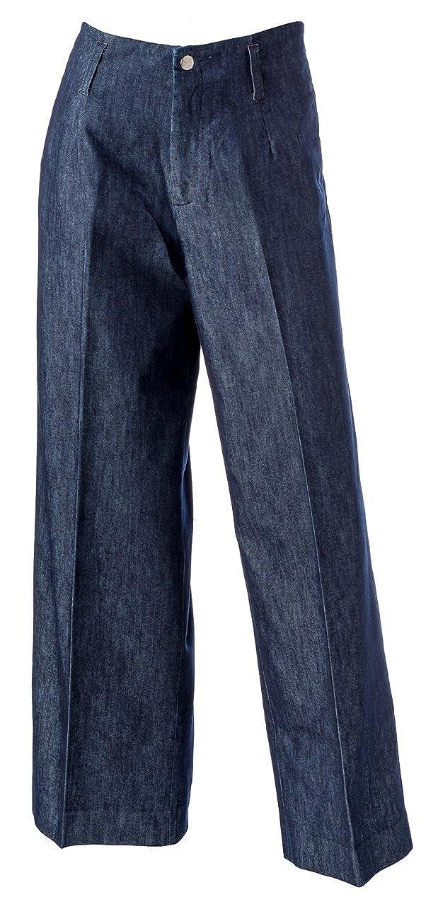 1940s Style Pants & Overalls- Wide Leg, High Waist Lightweight Denim Wide Legs $112.70 AT vintagedancer.com