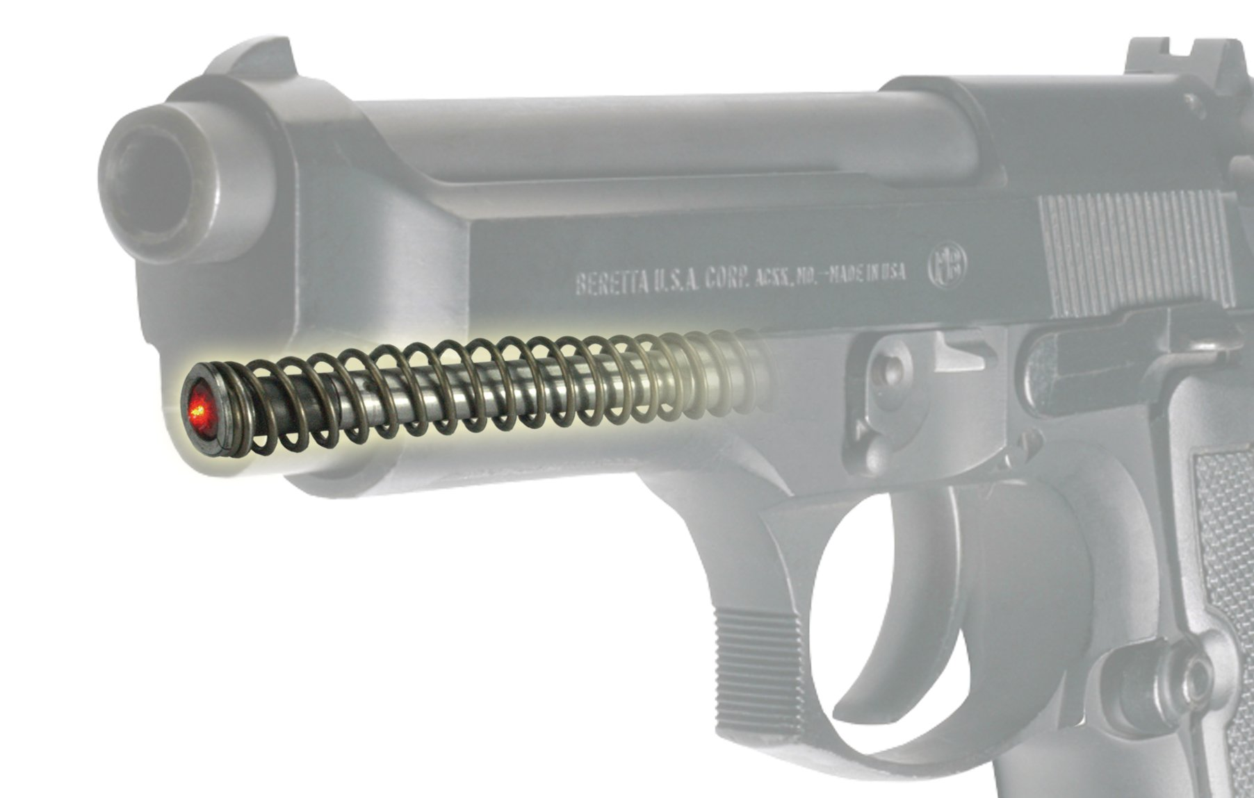 LaserMax LMS-1441 Guide Rod Laser for Beretta 92 & 96 full size and Taurus PT92, PT99, PT100, and PT101