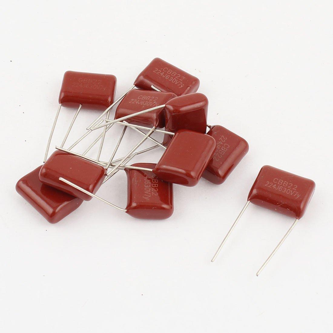 Aexit 10pcs 224J 630V 0.22uF Composants /électroniques condensateurs /à film polyester m/étallis/é 845H265