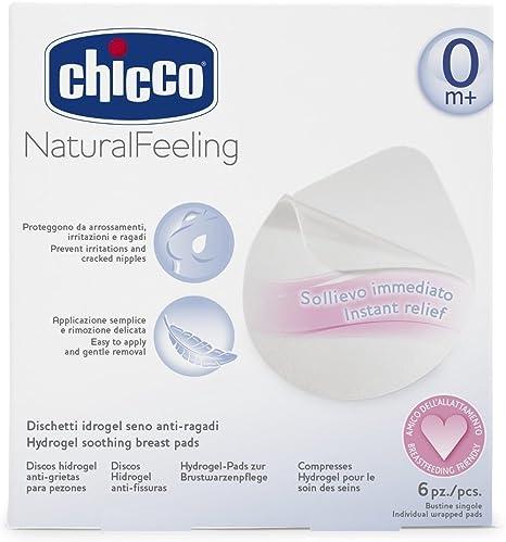 Chicco Hidro Gel - Pack de 6 discos de hidrogel para prevenir irritaciones o estrías en el pezón: Amazon.es: Bebé